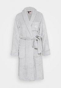 SHORT ROBE - Dressing gown - grey