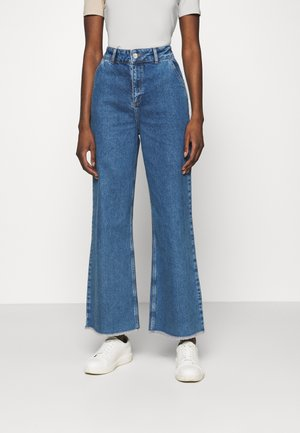 CARA - Bootcut jeans - dark blue