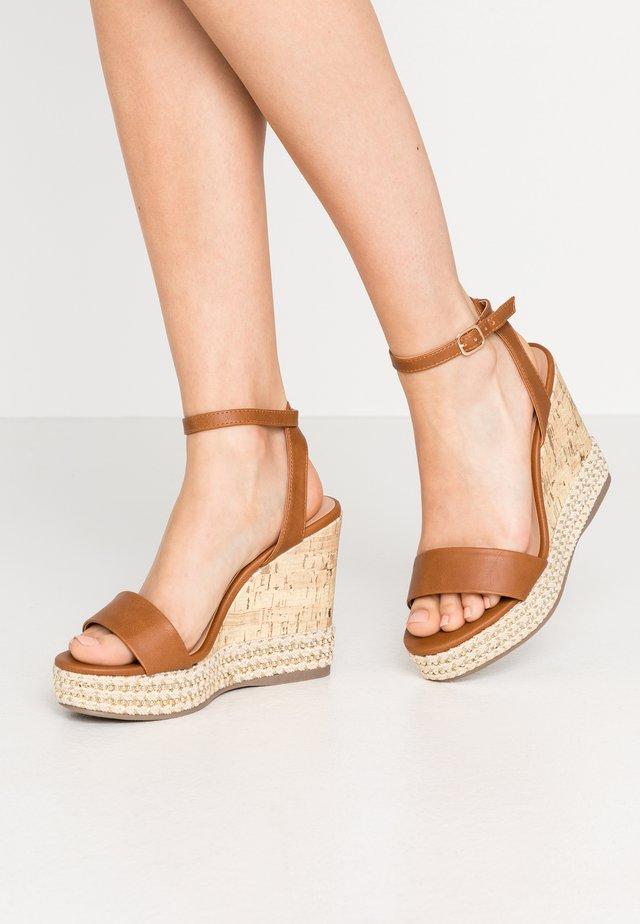 OCEAN - High heeled sandals - tan