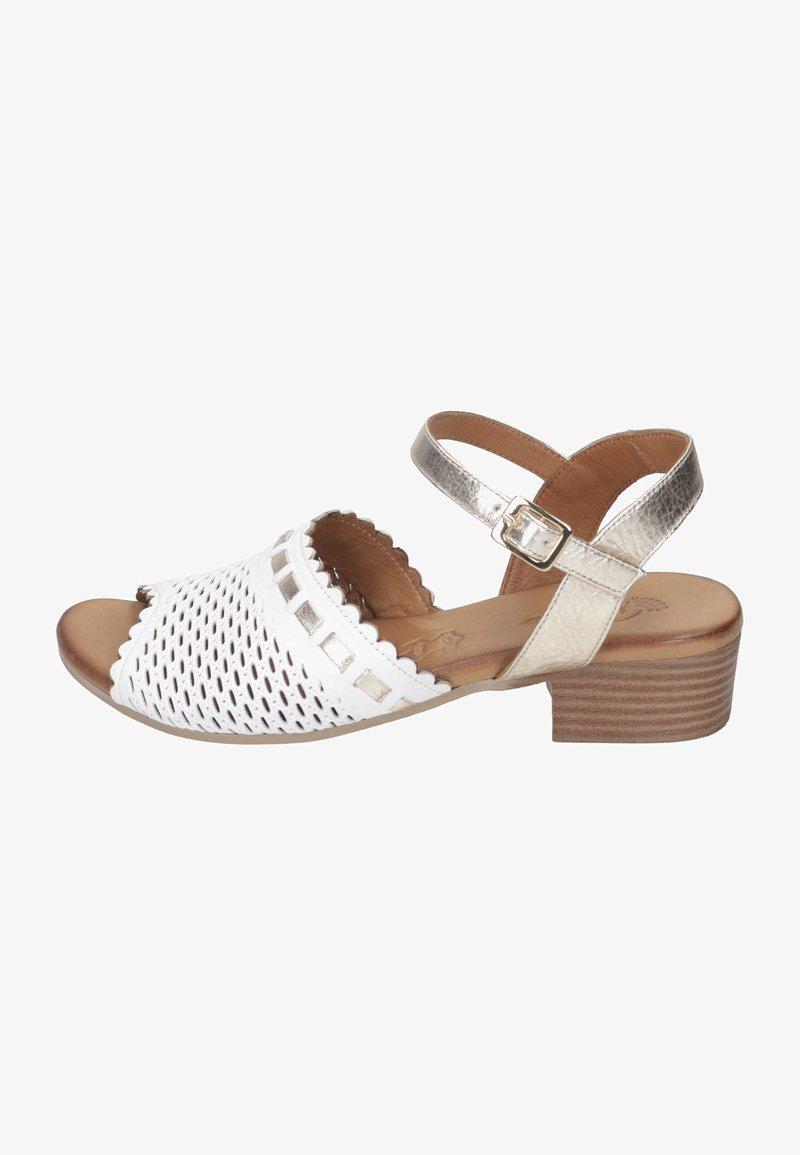 Piazza - Sandals - weiß/gold