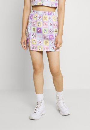 HELLO PATCHWORK SKIRT - Minikjol - multicoloured