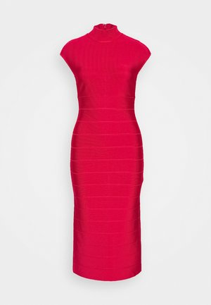 HALTER NECK DRESS - Shift dress - rio red