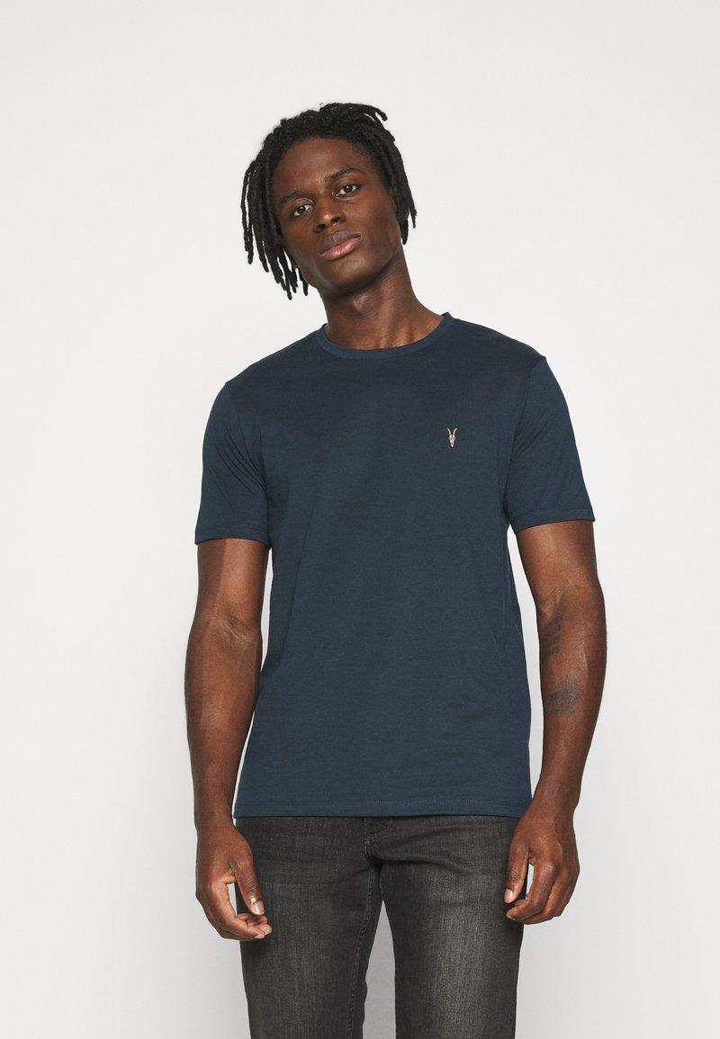 AllSaints - BRACE CONTRAST CREW - Basic T-shirt - sapphire blue