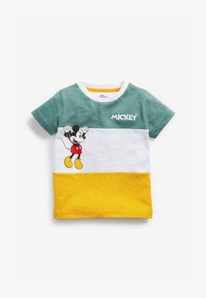Print T-shirt - green/white/yellow
