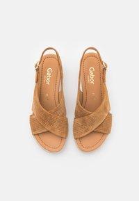 Gabor Comfort - Sandalias con plataforma - camel - 5