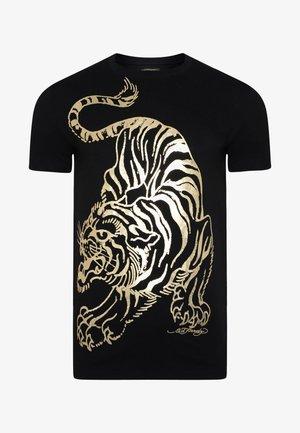 TIGER-GIANT T-SHIRT - Print T-shirt - black