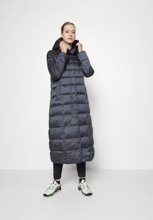 WOMAN COAT FIX HOOD - Winter coat - titanio