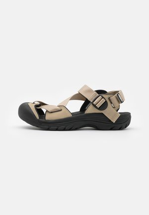 ZERRAPORT II - Walking sandals - safari/black