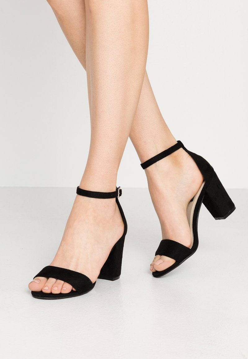 Nly by Nelly - BLOCK MID - Riemensandalette - black