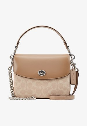 COATED SIGNATURE CASSIE CROSSBODY - Käsilaukku - sand/taupe