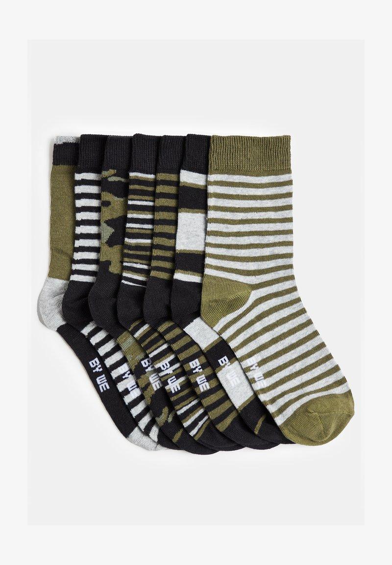 WE Fashion - 7 PACK - Socks - olive black
