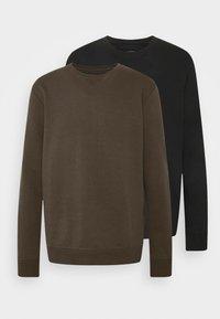 Burton Menswear London - 2 PACK CREW  - Mikina - black - 4