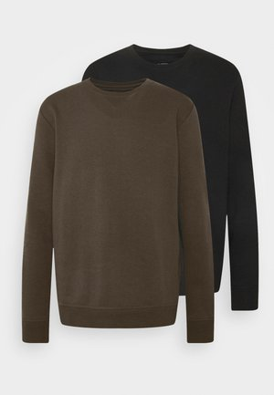 2 PACK CREW  - Sweatshirt - black