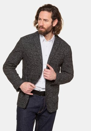 HERREN GROSSE GRÖSSEN STRICK-BLAZER 720240 - Blazer jacket - schwarz