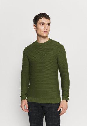 SLHCONRAD CREW NECK - Jumper - green
