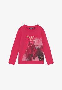 Blue Seven - KIDS GREY HORSE  - Sweatshirt - magenta - 2