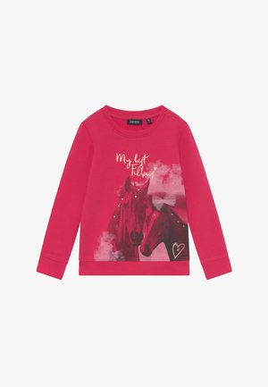 KIDS GREY HORSE  - Sweatshirt - magenta