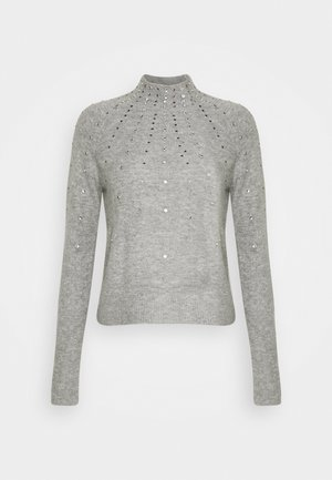 PETITES EMBELLISHED JUMPER - Jumper - light grey