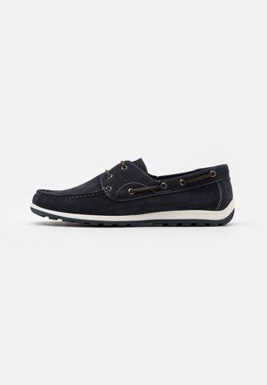 LEATHER - Boat shoes - dark blue