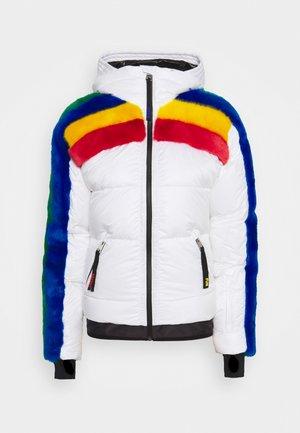 RAINBOW SNOW - Kurtka narciarska - white