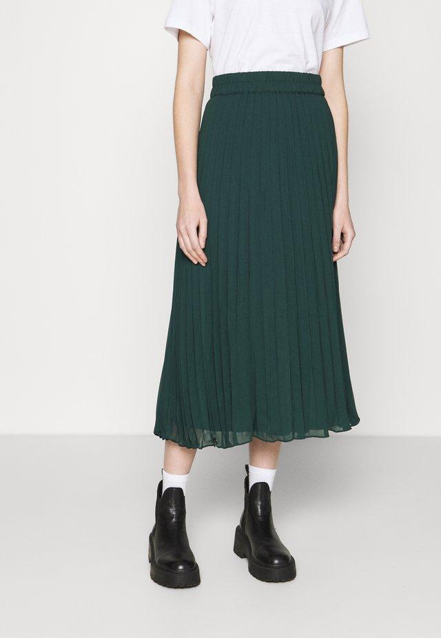 LAURA PLISSÉ SKIRT - A-line skirt - dark green