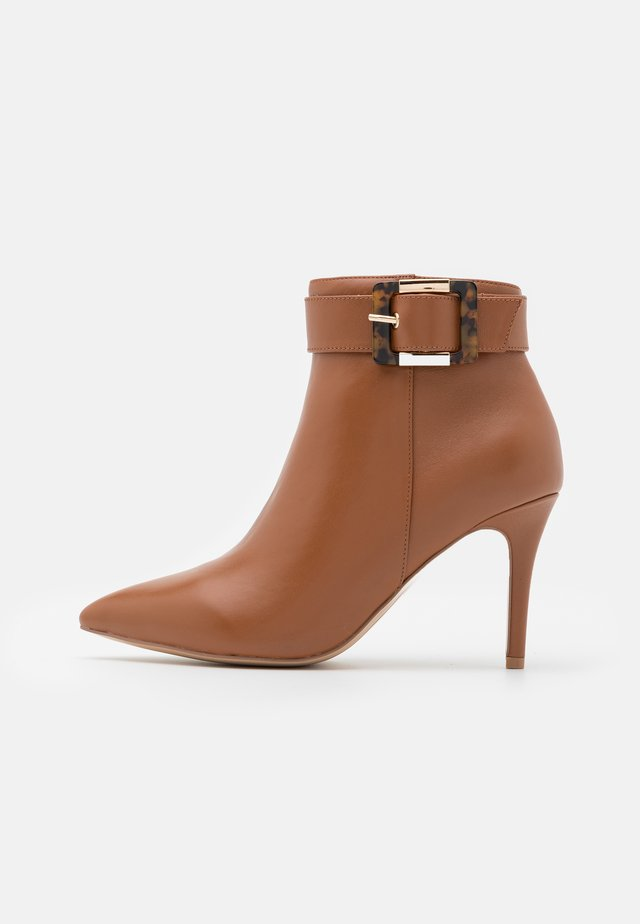 JULIET - High heeled ankle boots - tan
