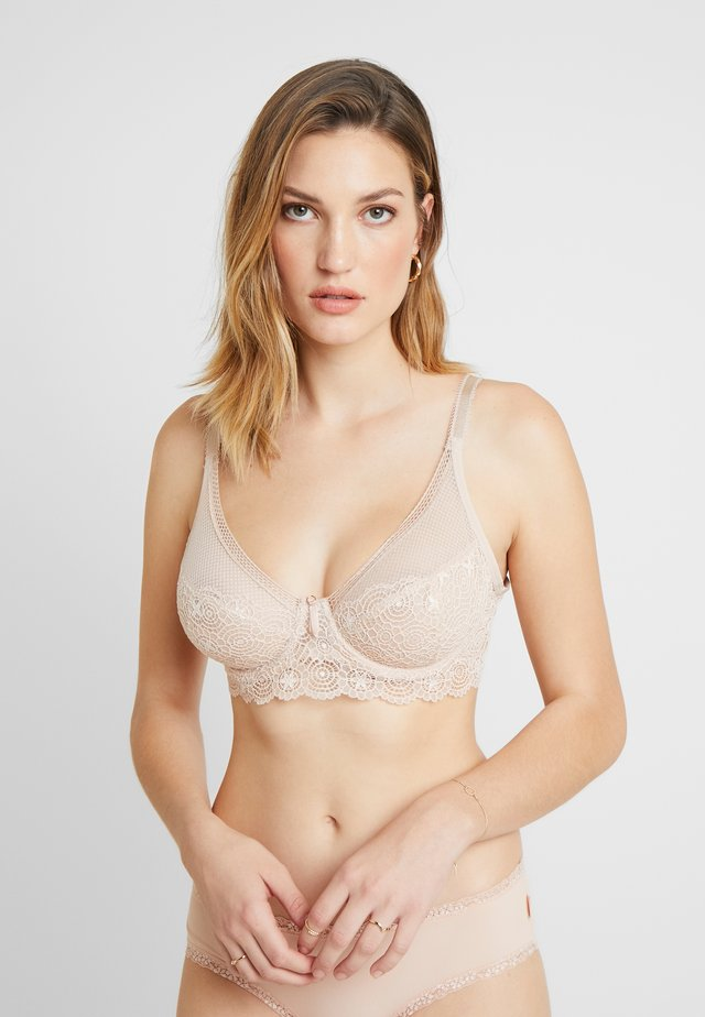 EXPRESSION HIGH APEX BRA - Biustonosz z fiszbiną - natural beige