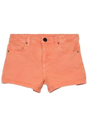 Short en jean - oranje