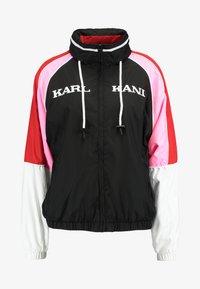 Karl Kani - RETRO BLOCK TRACKJACKET - Windbreaker - black/white/red/pink - 5