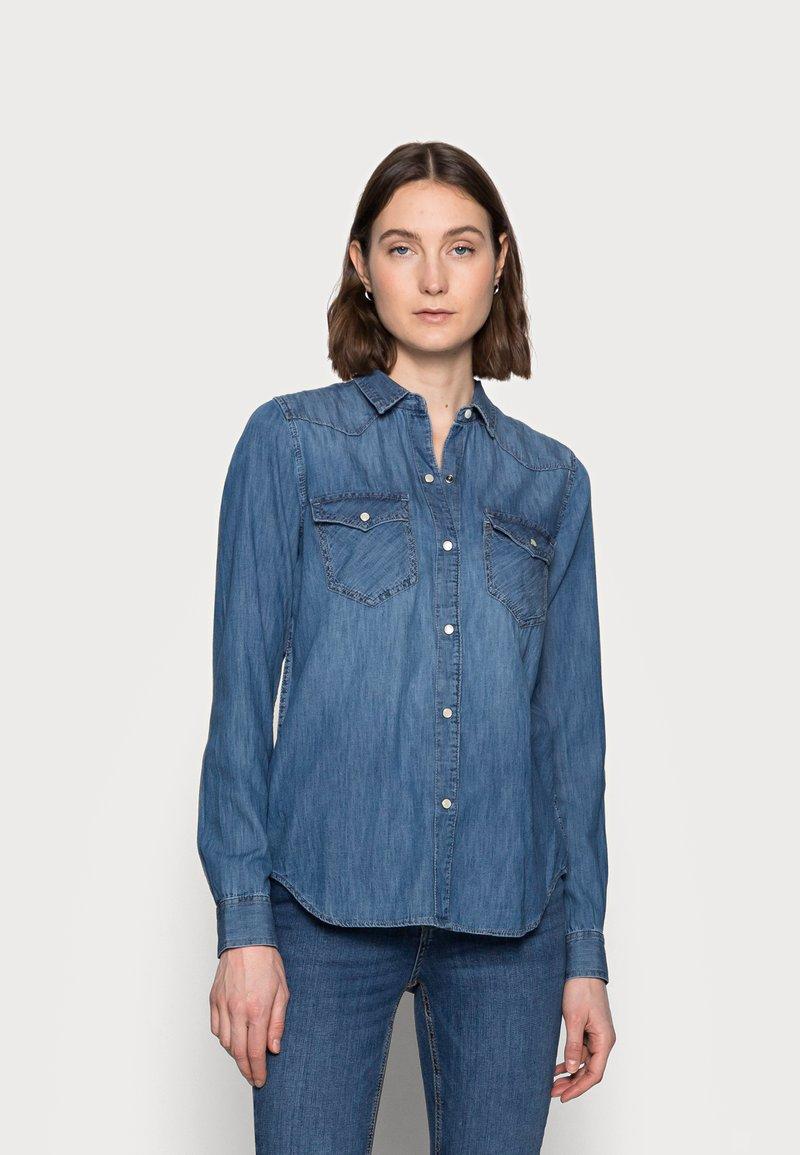 Gap Tall - Button-down blouse - medium indigo