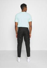 Topman - SMART CHECK TAPER - Cargo trousers - black - 2