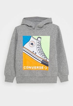 COLOURBLOCK SNEAKER HOODIE - Hoodie - dark grey heather