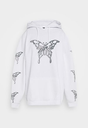 METALLIC BUTTERFLY HOODIE - Jersey con capucha - white