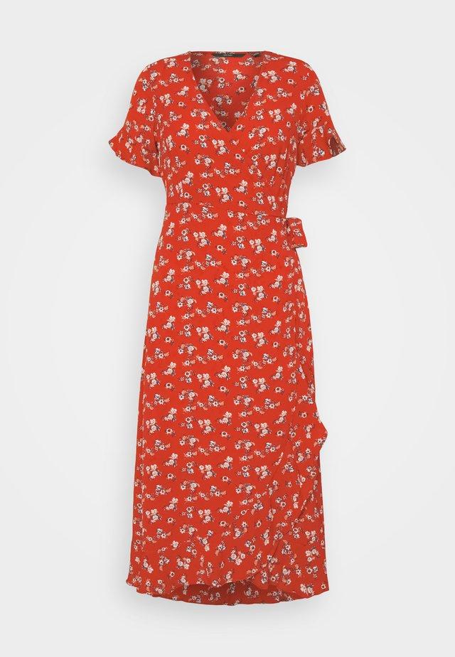 VMSAGA WRAP FRILL ANKLE DRESS - Kjole - goji berry