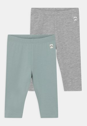 2 PACK UNISEX - Leggings - Trousers - light dusty aqua