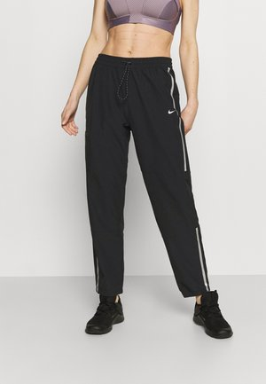 PANT - Tracksuit bottoms - black/metallic silver