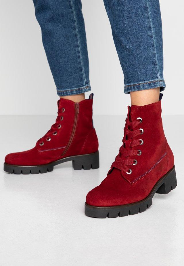 Platform ankle boots - dark opera