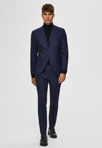 Selected Homme - SLIM FIT - Pantaloni eleganti - dark blue - 1