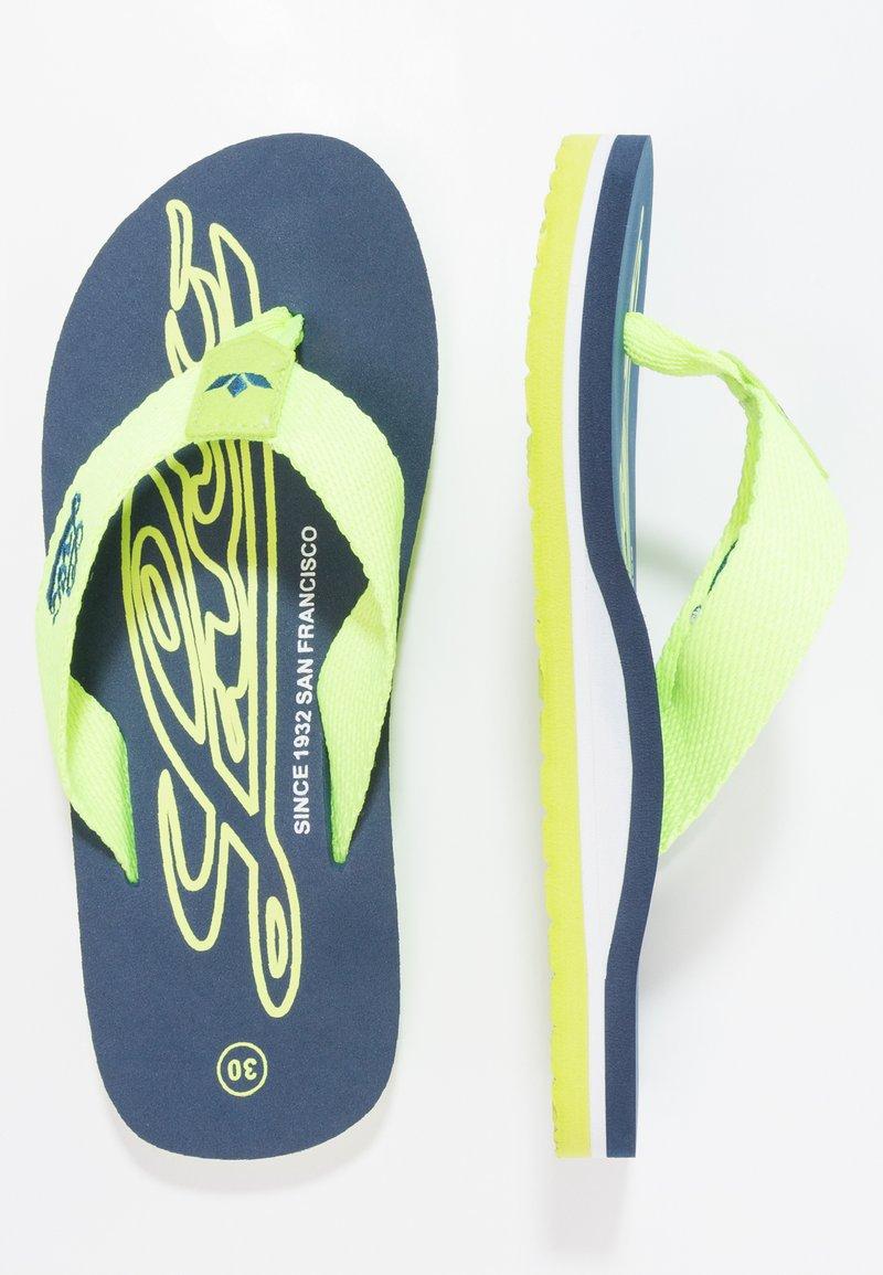 LICO - FLAMENCO - T-bar sandals - marine/lemon