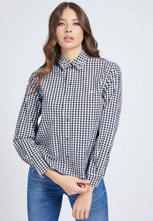 Button-down blouse - mehrfarbig schwarz
