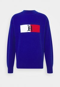 Tommy Hilfiger - LEWIS HAMILTON UNISEX BOX RIBBED MOCK NECK  - Pullover - sapphire blue - 0