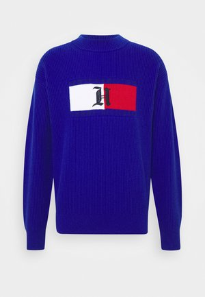 LEWIS HAMILTON UNISEX BOX RIBBED MOCK NECK  - Jumper - sapphire blue