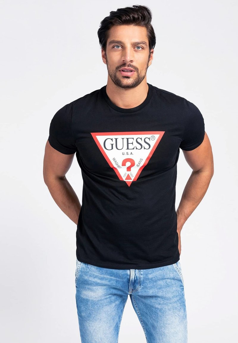 Guess - Print T-shirt - schwarz