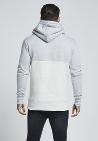 SIKSILK - DROP SHOULDER CUT SEW HOODIE - Hoodie - grey marl off-white - 2
