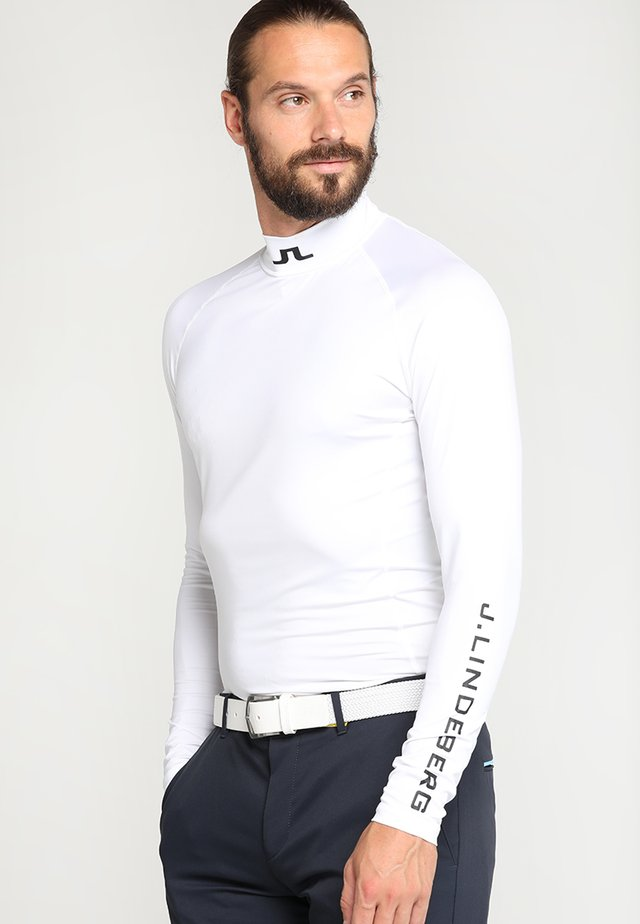 AELLO SOFT COMPRESSION - Long sleeved top - white