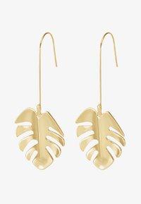 SNÖ of Sweden - HYDE LEAF PENDANT EAR PLAIN - Earrings - gold-coloured - 3