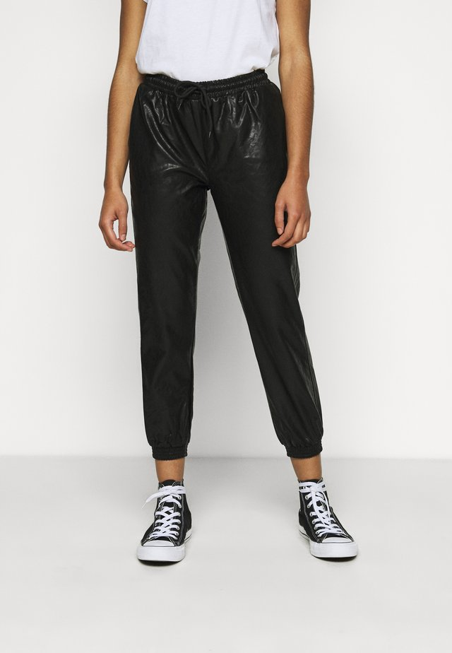 JOGGER WITH CUFF - Trousers - black