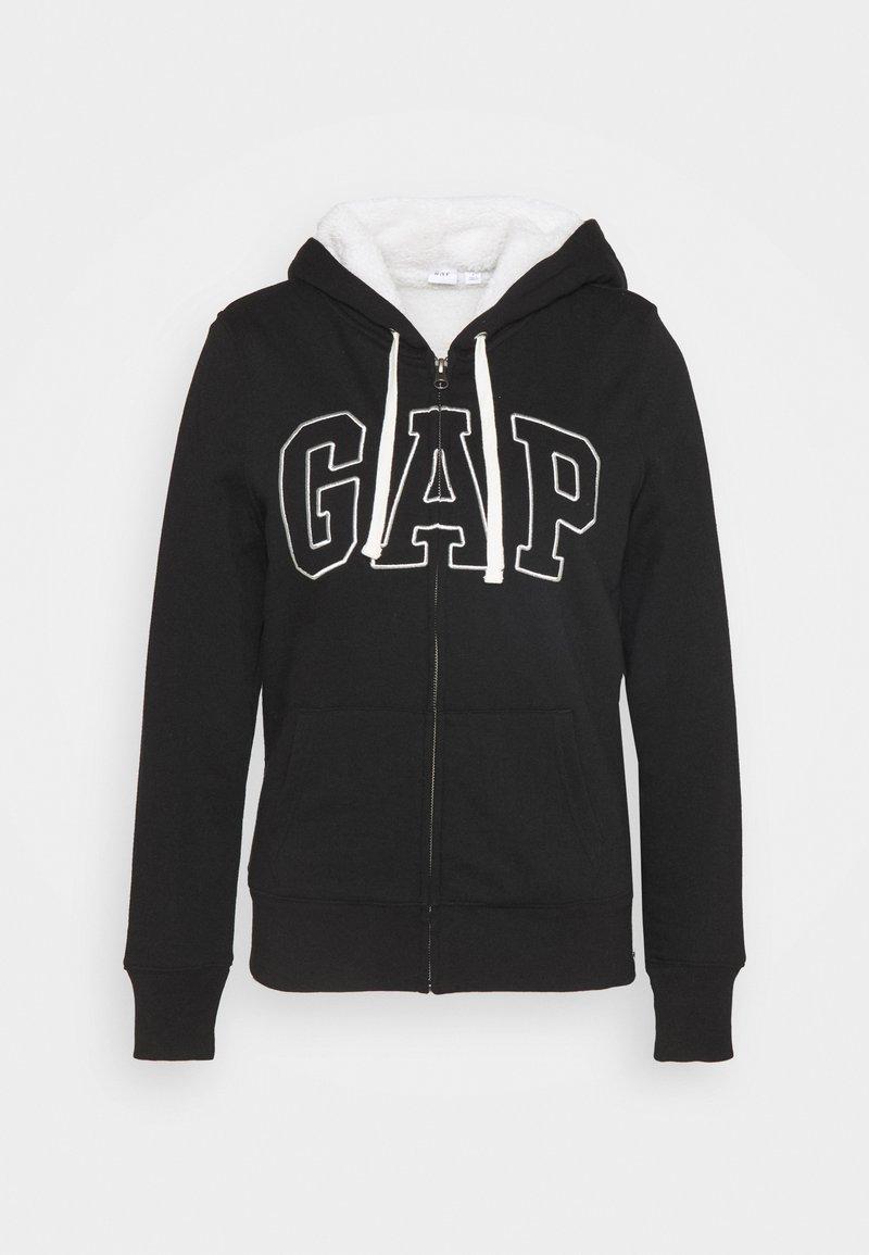 GAP Sweatjacke - true black/schwarz nOgfDT