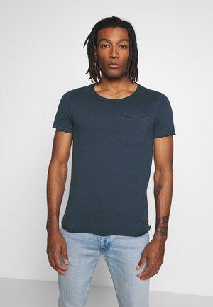 SLIM  - T-shirts basic - denim blue