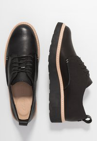 Clarks - TRACE WALK - Lace-ups - black - 3